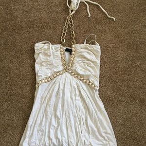 Sky Brand Ivory Gold Chain Top Size XS